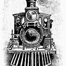 Vintage Locomotive Train - Front Facing by cartoon
