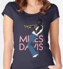 Miles Davis Women's Fitted Scoop T-Shirt