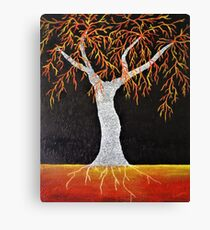 Red Earth Tree Canvas Print