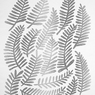 Modern Fronds – Silver Palette by catcoq