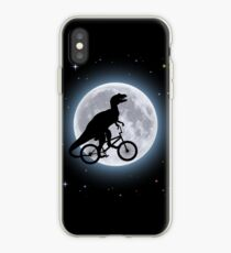 Vinilo o funda para iPhone Dinosaur Moon