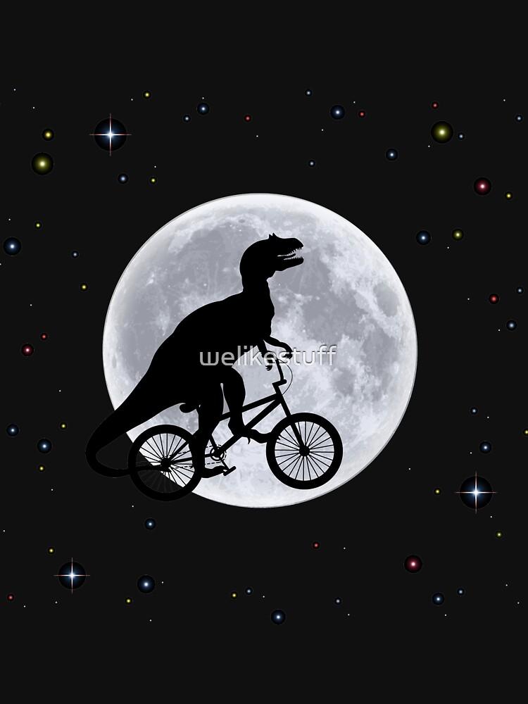 Dinosaur Moon by welikestuff