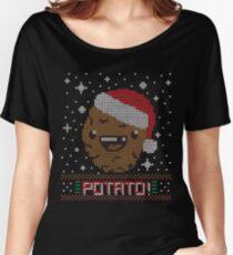 UGLY POTATO CHRISTMAS SWEATER ERMAHGERD!! Women's Relaxed Fit T-Shirt