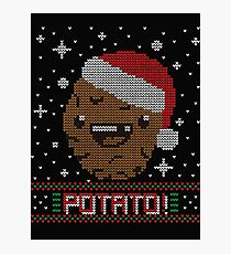 UGLY POTATO CHRISTMAS SWEATER ERMAHGERD!! Photographic Print