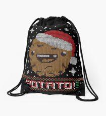 UGLY POTATO CHRISTMAS SWEATER ERMAHGERD!! Drawstring Bag