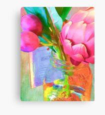 Pink Artichoke in Jar Canvas Print