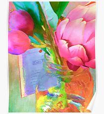 Pink Artichoke in Jar Poster