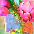 Pink Artichoke in Jar by kcd-designs