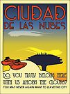 Ciudad De Las Nubes -  T-shirt and Poster by Technohippy