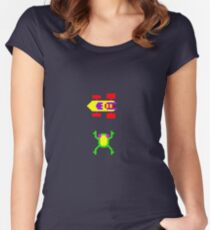 Arcade Love - Frogger Women's Fitted Scoop T-Shirt