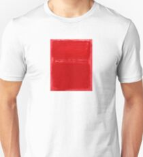 Mark Rothko Christmas Red Abstract Unisex T-Shirt