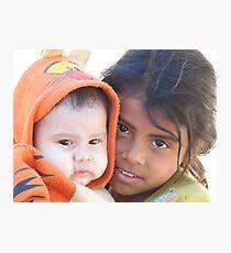 Little babysitter - jovencita canguro  Photographic Print
