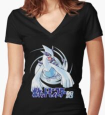 Pocket Monsters: Silver Women's Fitted V-Neck T-Shirt
