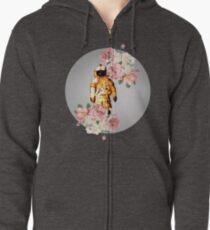 Deja Entendu - Blumen Hoodie mit Reißverschluss