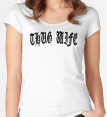 THUG WIFE Women's Fitted Scoop T-Shirt