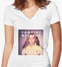 contra vampire weekend Women's Fitted V-Neck T-Shirt