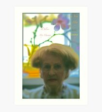My Mammy  Tribute to Al Joison - My Mammy. 5 Star Excellence... Anne Valerie Kelly. Art Print