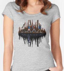 Stranger Abbey Road - Upside down Women's Fitted Scoop T-Shirt