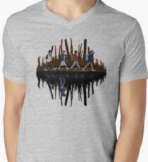 Stranger Abbey Road - Upside down T-Shirt