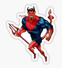 The Manic Demon By Grange Wallis Sticker