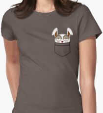 Pocket rabbit Womens Fitted T-Shirt