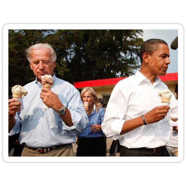 Obama and Biden Sticker