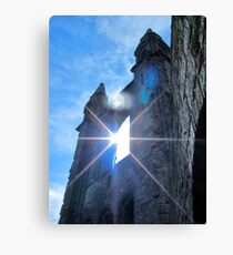 St Andrews Cathedral Sunglare Angel Canvas Print