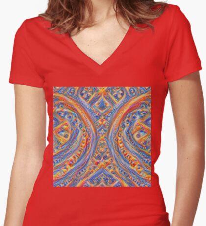 Innominatus #DeepDream Fitted V-Neck T-Shirt