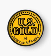 US GOLD 80s Software Publisher Clock