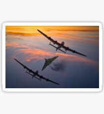 Vulcan and Lancaster Bombers Sticker