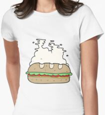 cartoon huge sandwich Womens Fitted T-Shirt