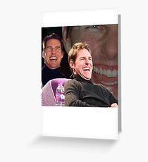 Tom Cruise Laughing MEME Greeting Card