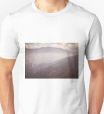 Mountains in fog Unisex T-Shirt