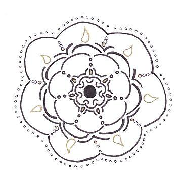 Flower Drop Mandala by leegee