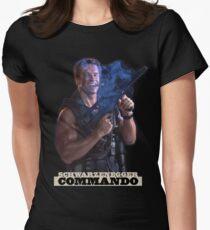 Commando - John Matrix Womens Fitted T-Shirt