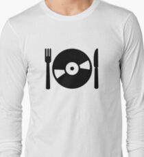 Vinyl DJ menu Long Sleeve T-Shirt