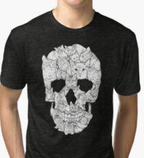 Cat Skull Tri-blend T-Shirt