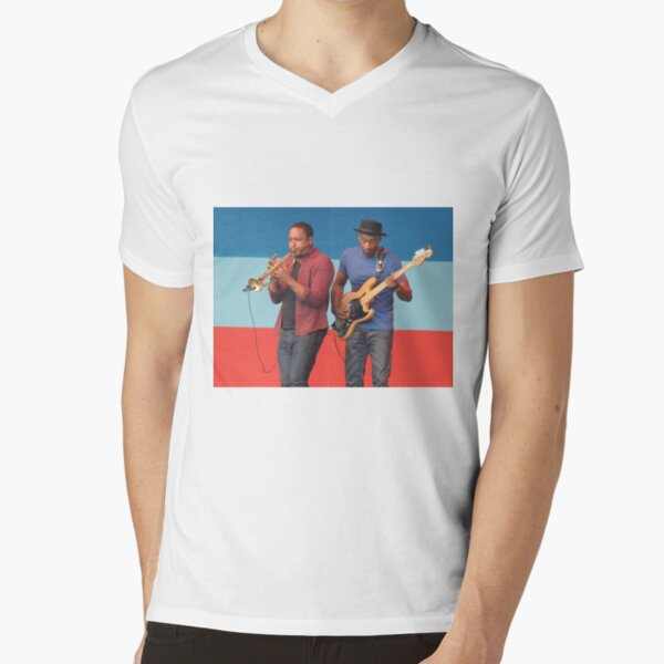 Marcus Miller Red & Blue Jazz V-Neck T-Shirt