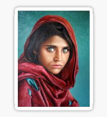 Afghan Girl Sticker