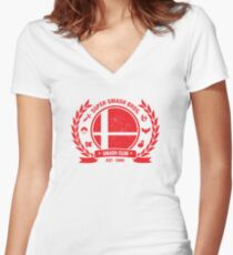 Smash Club Ver. 2 (Red) Women's Fitted V-Neck T-Shirt