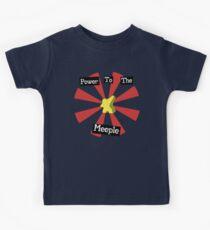Macht zum Meeple   Brettspiele Kinder T-Shirt
