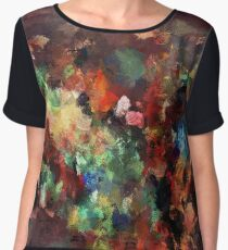 Colorful Contemporary Abstract Painting Chiffon Top