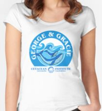 George And Gracie (Cetacean Institute) : Inspired by Star Trek IV : The Voyage Home Women's Fitted Scoop T-Shirt
