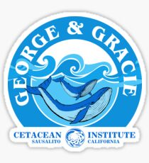 George And Gracie (Cetacean Institute) : Inspired by Star Trek IV : The Voyage Home Sticker