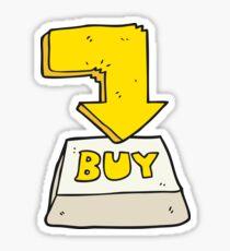 cartoon computer key buy symbol Sticker