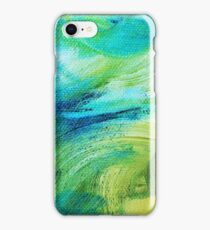 Blue and Green Impasto iPhone Case/Skin