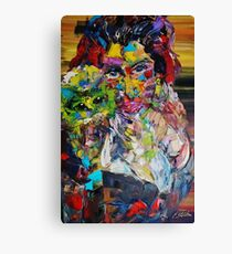 Expresstionist Supermodel and Cat 838 Canvas Print