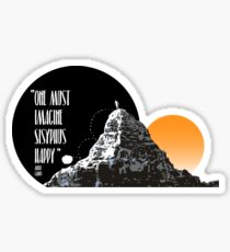 Sisyphus is happy Sticker