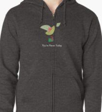 Emerald Bird Hoodie mit Reißverschluss