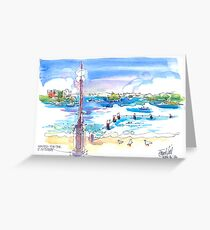 Waiting for the Ferry at Manly, Sydney Greeting Card